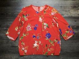 Madeleine hochpreisiges Bluse / 3/4-Arm / rot mit Blumenprint / Gr. 42 - NP 99,95€