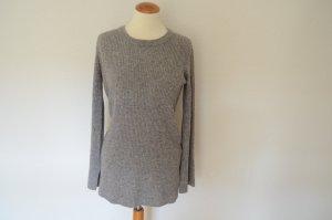 MADELEINE THOMPSON Woll Cashmere Pullover NEU! 38 M grau meliert