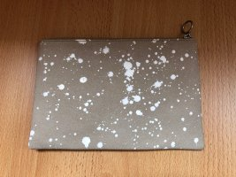 Madewell Clutch beige-white leather