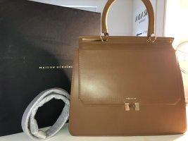 Maison Héroïne Laptop bag cognac-coloured-brown leather