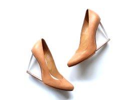Maison Martin Margiela x H&M Pumps Gr.40 nude beige Plexiglas Absatz High Heels Pumps