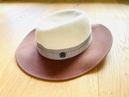 Maison Michel Woolen Hat white-grey brown wool