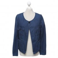 Maison Scotch Navy Blaue Jeans Optik Jacke