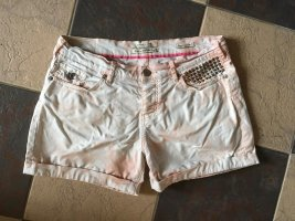 Maison Scotch Shorts Boyfriend oversized mom jeans denim short hotpants ombre acid wash
