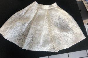 Maje Balonowa spódniczka biały-w kolorze białej wełny Koronka