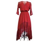 Maje Evening Dress red viscose
