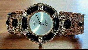 Majestic Reloj con pulsera metálica negro-color plata