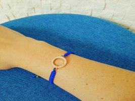 Makrameearmband blau