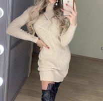 Malina Fashion Vestido de lana crema Cachemir