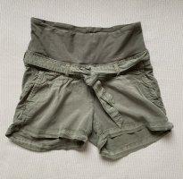 H&M Mama Pantalón corto de tela vaquera gris verdoso