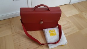 Mandarina Duck Briefcase dark red leather