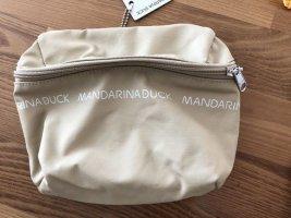 Mandarina Duck Torebka mini piaskowy brąz Tkanina z mieszanych włókien