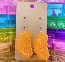 Handmade Orecchino a pendente grigio chiaro-arancione chiaro