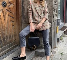 Mango Blazer in tweed multicolore
