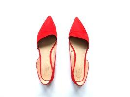 Mango Ballerinas Gr. 39 rot asymmetrisch Spitz