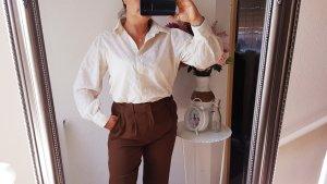 Mango Blusen Hemd Elfenbein weiß ivory XL NEU