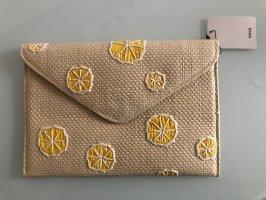 Mango Clutch Limonen Rattan Stroh Geflochten Tasche Top