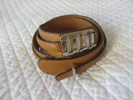 Mango Cintura di pelle color cammello-marrone chiaro Pelle
