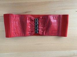 MANGO Gürtel, Taillengürtel, Rot, Stretch Gürtel, XS