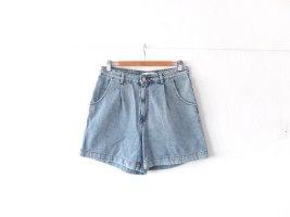 Mango High Waist Jeansshort Gr. 40 Jeans Shorts blau used look