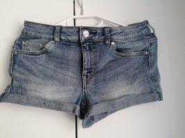Mango Hotpants kurze Hose S 36 blau Shorts Jeans Jeansshorts