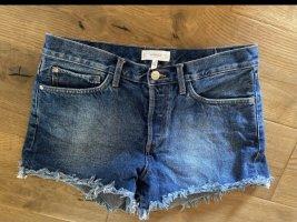 Mango Hot Pants blue