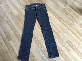 Mango Jeans vita bassa blu scuro