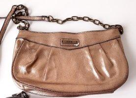 Mango kleine Crossbody Bag Gold mit Gliederkette Metall Strasssteine