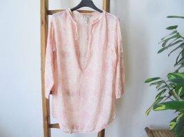 Mango Długa bluzka jasnożółty-brzoskwiniowy Wiskoza