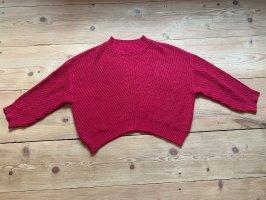 Mango Knitted Sweater magenta-pink