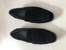Mango Mocassins noir polyester