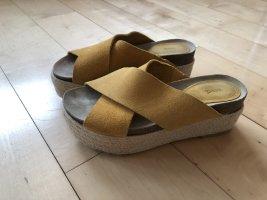 Mango Platform Sandals sand brown