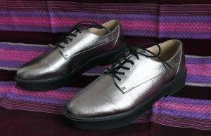 Mango - schicke Schnürschuhe Bronze, Metallic - neu - Gr. 39 -#College Style
