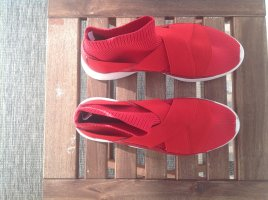 Mango Instapsneakers rood Gemengd weefsel