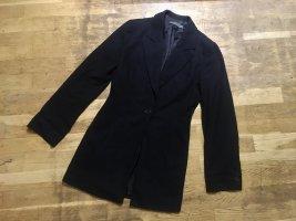 Mango Suit Krótki płaszcz czarny