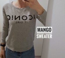Mango Suéter gris claro