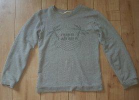 Mango Sweatshirt Pullover Palmen Karibik Urlaub Copa Cabana Grau XS 34