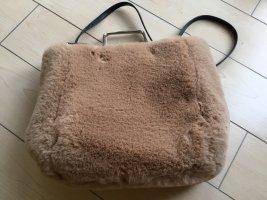 Mango Tasche Handtasche Umhängetasche Fake Fur Teddypelz