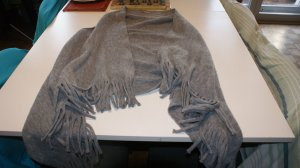 Manguun Fringed Vest taupe cotton
