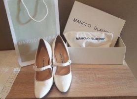 Manolo Blahnik Tacones Mary Jane blanco puro