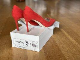Manolo Blahnik High Heels red leather