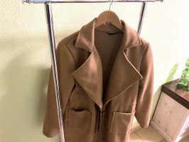 Cappotto lungo fino a terra marrone chiaro-rosa chiaro