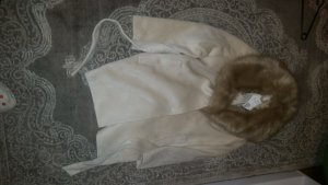 H&M Conscious Collection Gabardina tipo vestido beige claro