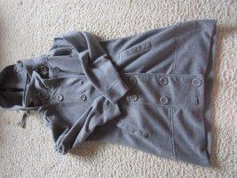 Cappotto in pile grigio