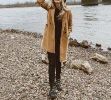 Amisu Abrigo de invierno marrón claro Algodón