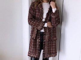 100% Fashion Chaqueta holgada burdeos