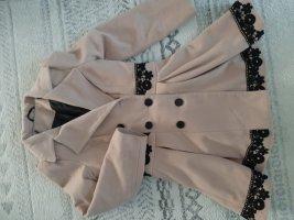 keine Robe manteau noir-marron clair