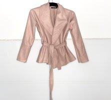 Mantel mit Gürtel in puderrosa Neu gr. 38