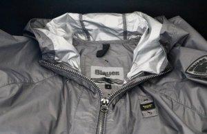 Blauer Heavy Raincoat black-silver-colored polyamide