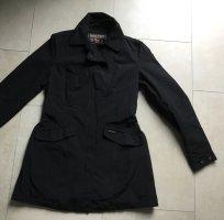 Woolrich Between-Seasons-Coat black mixture fibre